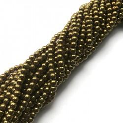 Hematyt kulka 4mm złoty sznurek