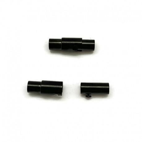 Zapięcie magnetyczne 16x5mm stal nierdzewna 3mm czarne