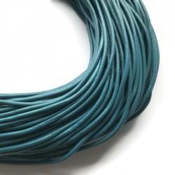 Rzemień naturalny okrągły 3mm niebieski
