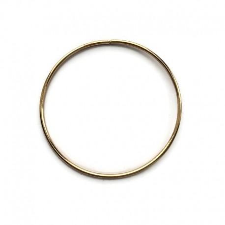Złota Metalowa Obręcz do łapacza snów koło 12cm