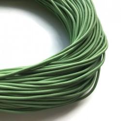 Rzemień naturalny okrągły 3mm zielony