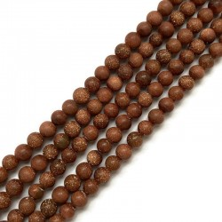 Piasek Pustyni kulka matowa 4mm sznurek brąz
