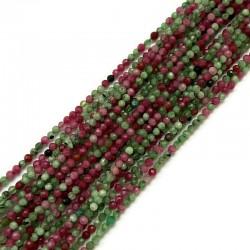 Rubin z zoizytem kulka fasetowana 2,5mm sznurek