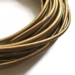 Rzemień szyty 6x7mm-złoty