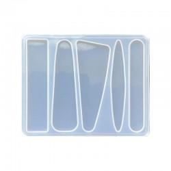 Forma do żywicy forma silikonowa do odlewów 98x78mm baza spinek