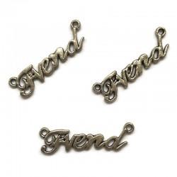 Łącznik FREND 35x10mm cyna srebrny