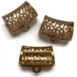 Krawatka 30x17mm cyna złota