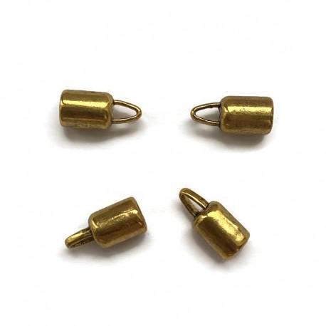 Końcówki do wklejania 5mm cyna złote