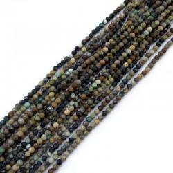 Turkus kulka fasetowana 2-3mm sznurek mix
