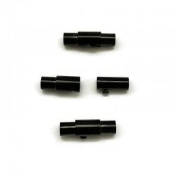 Zapięcie magnetyczne 17x6mm stal nierdzewna 4mm czarne