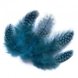 Piórka dekoracyjne 65~135x25~45mm Niebieski mix