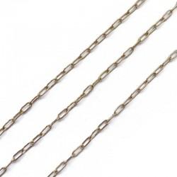 Łańcuszek 5,5x2,5x0,5mm stal nierdzewna złoty