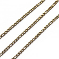 Łańcuszek 6,5x3x0,8mm stal nierdzewna złoty