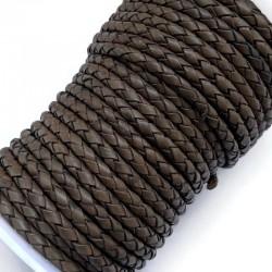 Rzemień naturalny pleciony 4mm - Cedar Brown