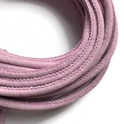 Rzemień szyty welurowy 6x7mm-gładki fioletowy