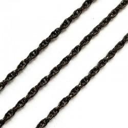 Łańcuszek metalowy okrągły 4x3x1mm czarny