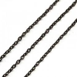 Łańcuszek metalowy okrągły 2x2x0,5mm czarny