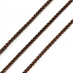 Łańcuszek metalowy pleciony 4x3x0,6mm miedź