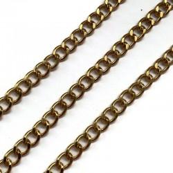 Łańcuszek plastikowy 8x7x1,1mm złoty