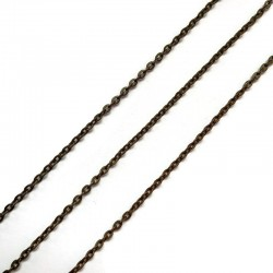 Łańcuszek metalowy drobny  2x2x0,5mm miedź