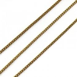 Łańcuszek metalowy pancerka 2x2x1mm złoty