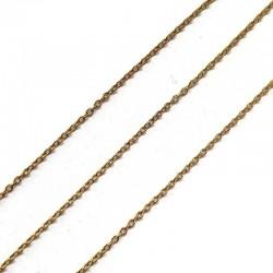 Łańcuszek metalowy okrągły 3x3x1mm rose gold