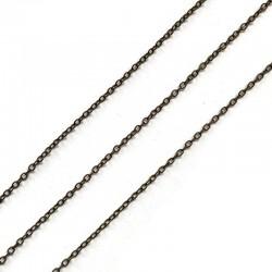Łańcuszek metalowy drobny 1x0,2mm stare złoto