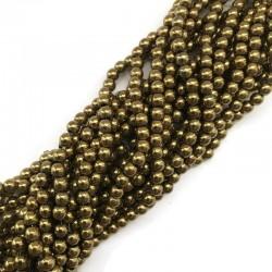 Hematyt kulka 6mm złoty sznurek