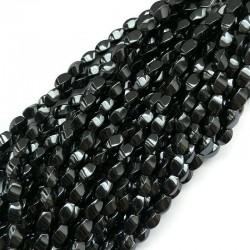 Hematyt twist 8x5mm czarny sznurek