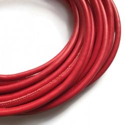 Rzemień szyty 6x7mm-czerwony