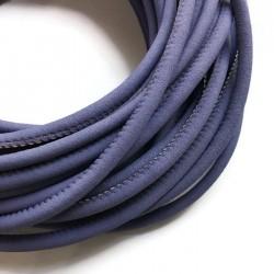 Rzemień szyty welurowy 6x7mm-gładki fiolet