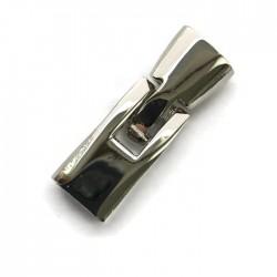 Zapięcie haczykowe do wklejania 36x12mm cyna