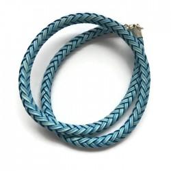 Rzemień pleciony z zapięcem niebieski nośnik 50cm