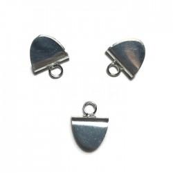 Krawatka języczkek z kółeczkiem kolor srebrny PL