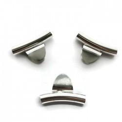 Krawatka języczek z rurką kolor srebrny PL
