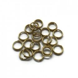 Kółeczka podwójne 6mm kolor złoty