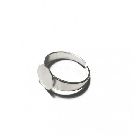 Podstawa pierścionka 10mm kolor srebrny PL