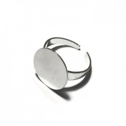 Podstawa pierścionka 17mm kolor srebrny PL