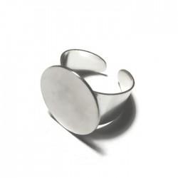 Podstawa pierścionka 20mm kolor srebrny PL