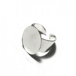Podstawa pierścionka owal 24x19mm kolor srebrny PL
