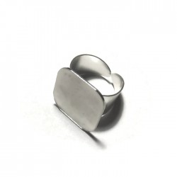 Podstawa pierścionka kwadrat 20x20mm kolor srebrny PL