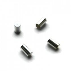 Wykończenie do rzemienia/sznurka podłużne 2,5mm cyna