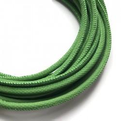 Rzemień szyty 6x7mm-wężowy zielony