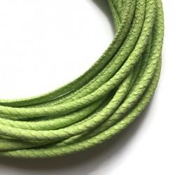 Rzemień szyty 6x7mm-wężowy jasno zielony