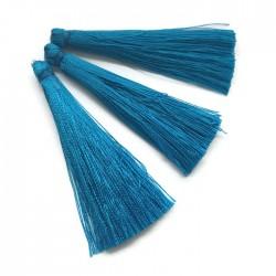 Chwosty frędzle z wiskozy 65mm niebieskie