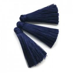 Chwosty frędzle z wiskozy 35mm ciemny niebieski