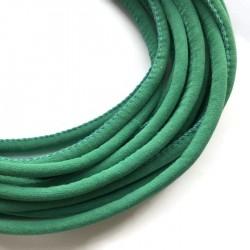 Rzemień szyty welurowy 6x7mm-gładki jasno zielony