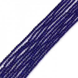 Kwarc kulka fasetowana 2mm niebieski sznurek