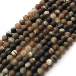 Agat kulka 10mm brązowy sznurek
