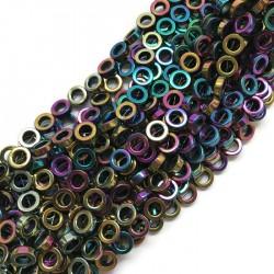 Hematyt kółko 10x4mm fiolet sznurek